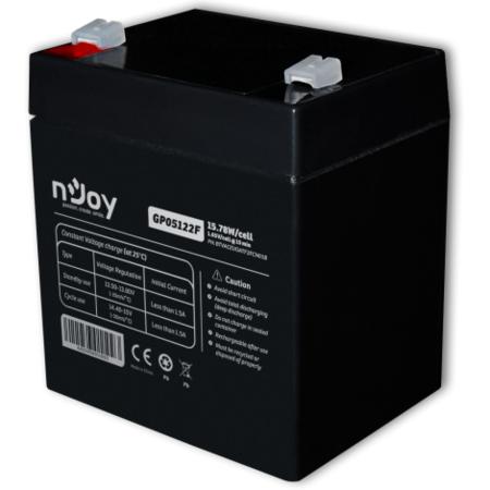 Baterie UPS nJoy GP05122F  12 V  5 A  Borne F2 Negru