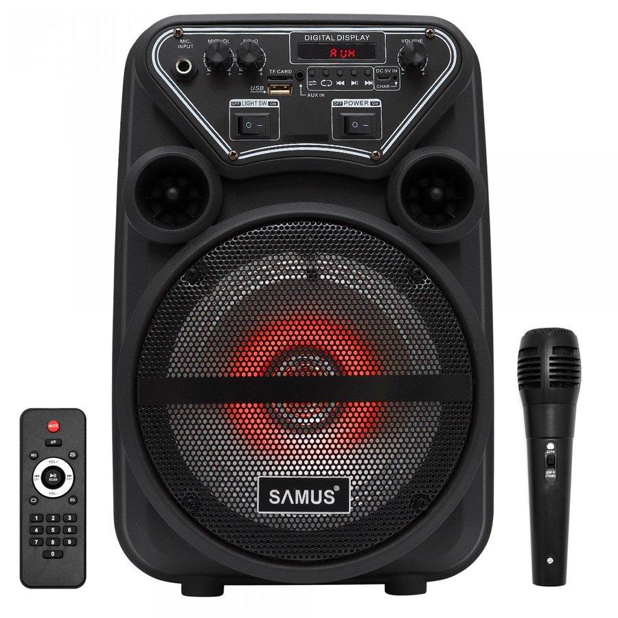 Boxa Portabila Dance 6 20w Led Bluetooth Microfon Negru