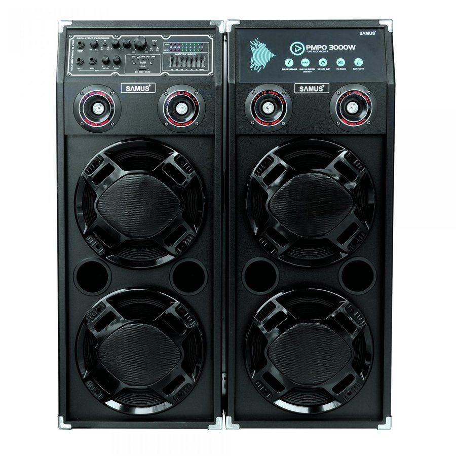 Sistem TWIN SOUND 20 2x150W Bluetooth Microfon Negru