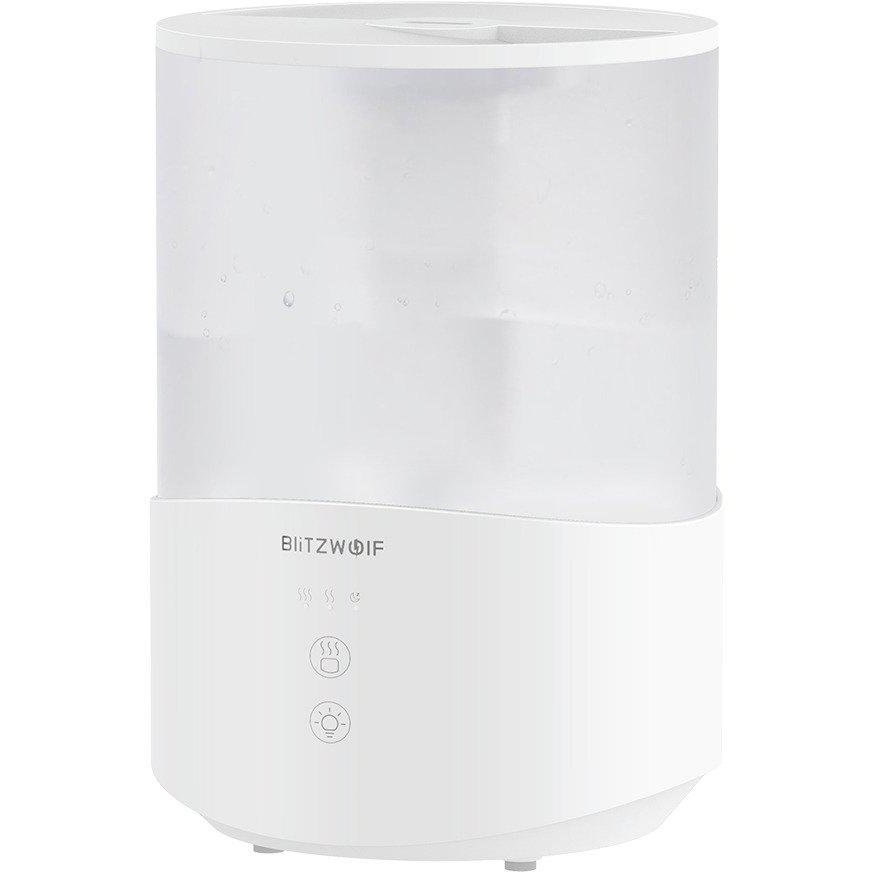 Umidificator Aer Cu Ultrasunete Si Lumina Ambientala Bw-sh1 25w 2.5l Rgb Alb
