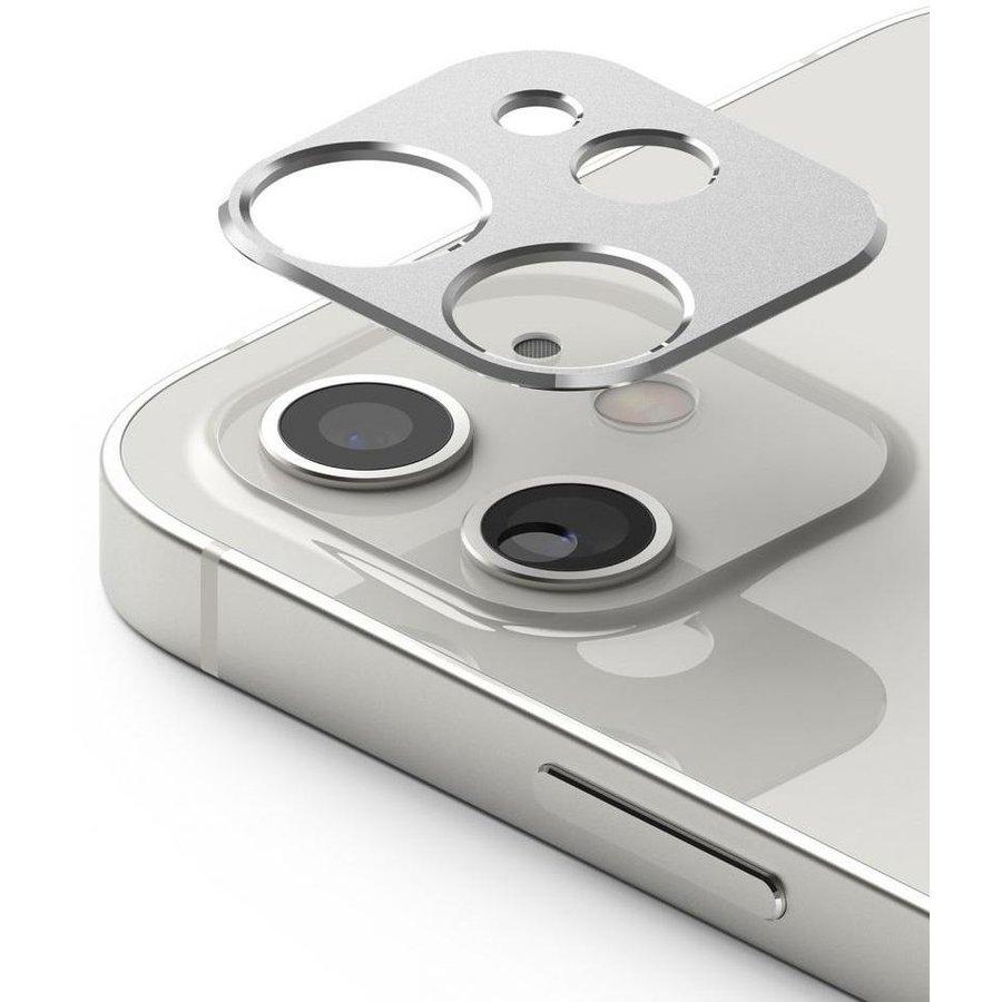 Rama protectie camera foto pentru iPhone 12 Mini Silver