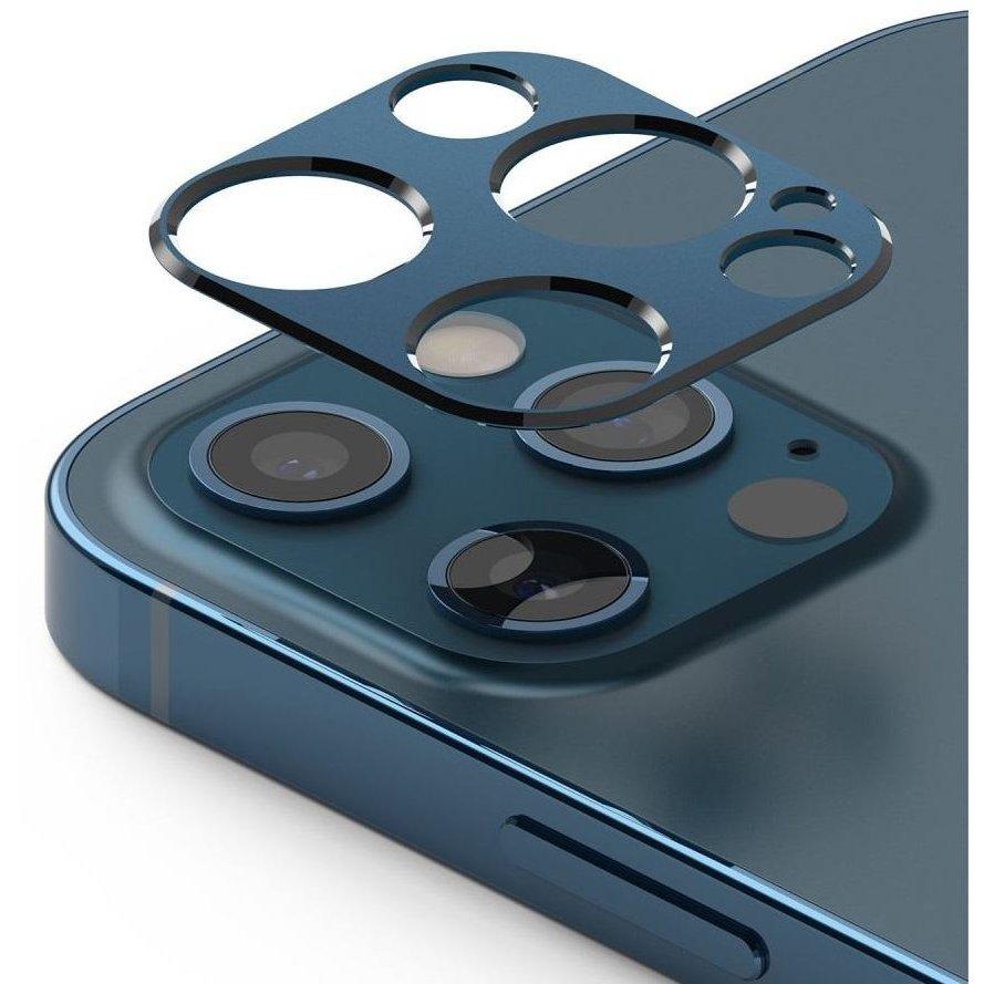 Rama protectie camera foto pentru iPhone 12 Pro Max Blue