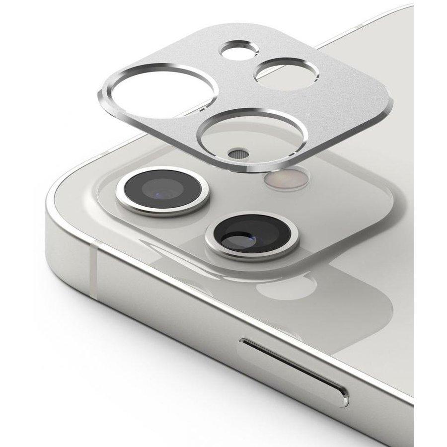 Rama protectie camera foto pentru iPhone 12 Silver