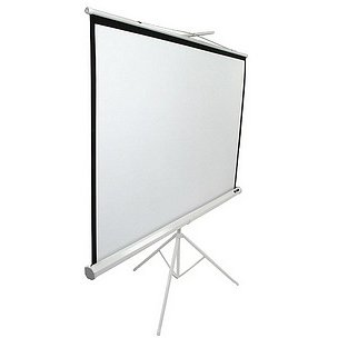 Ecran proiectie cu trepied T120NWV1 Profesional 240 x 180cm Format 4:3 Carcasa Alba
