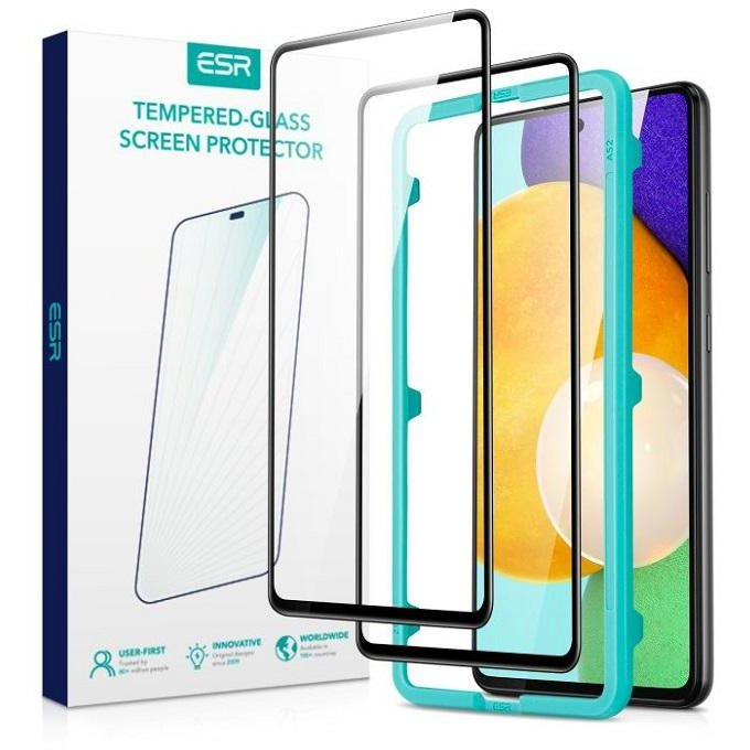Set 2 bucati Folie protectie Full Cover Screen Shield 3D compatibila cu Samsung Galaxy A52 4G/5G Black