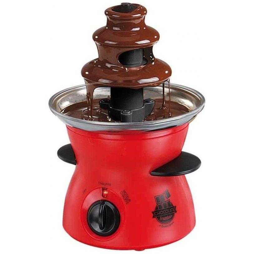 Fantana de ciocolata DOM335 300ml 80W Rosu/Negru