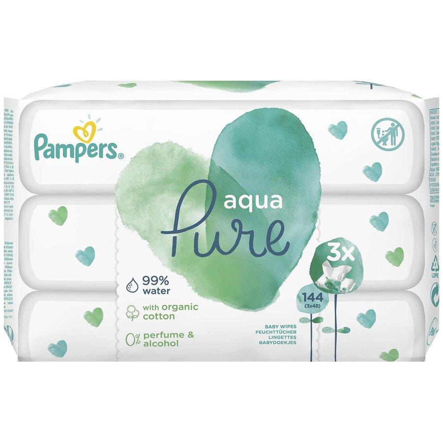 Servetele umede Aqua Pure (3*48buc)