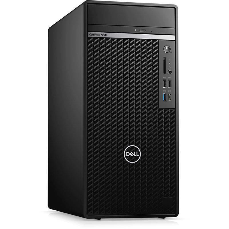 Sistem desktop OptiPlex 7090 MT Intel Core i7-10700 16GB DDR4 1TB HDD 256GB SSD nVidia GeForce GTX 1660 Super 6GB Windows 10 Pro Black
