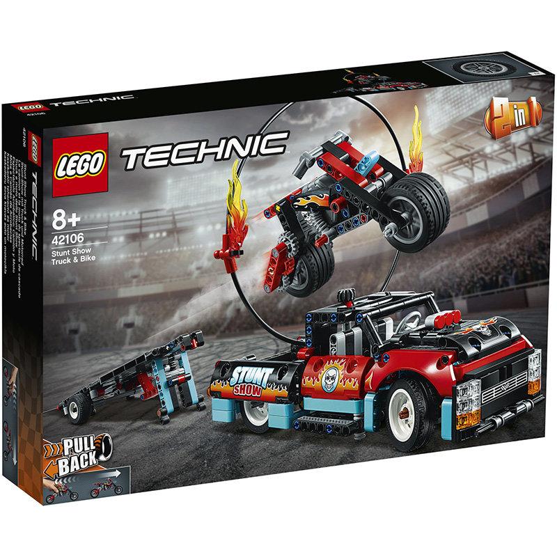 Technic 42106 Stunt-Show w. Truck + Bike 610 piese